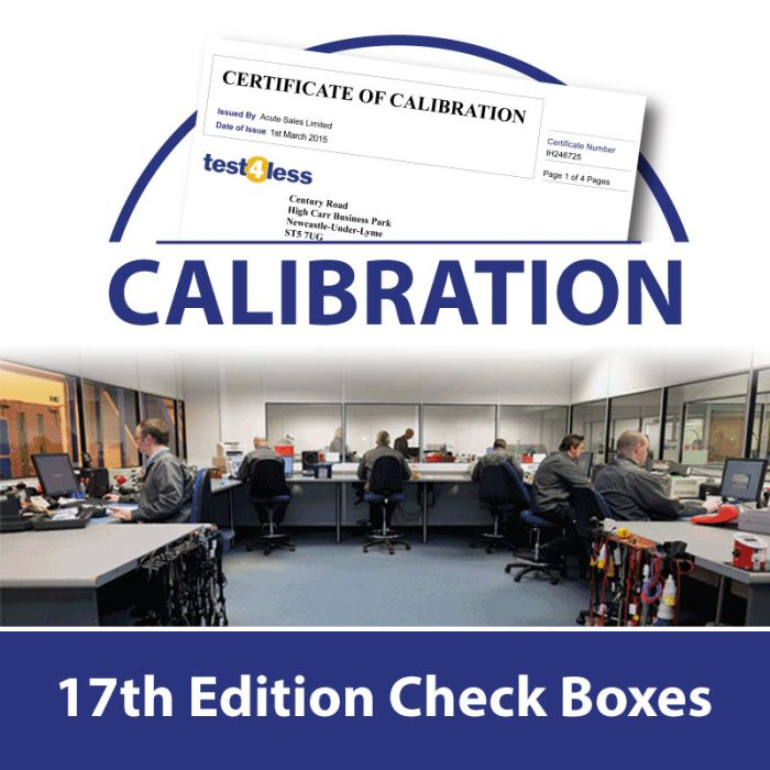 17th Edition Check Box Calibration