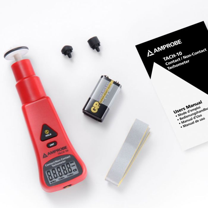 Amprobe TACH-10 Contact and Non-Contact Tachometer