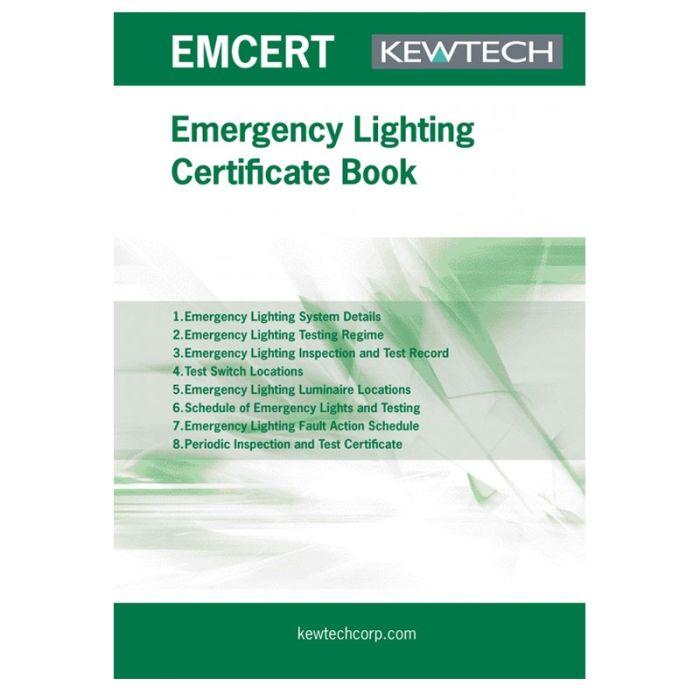 Kewtech Emergency Lighting Certification Book - EMCERT