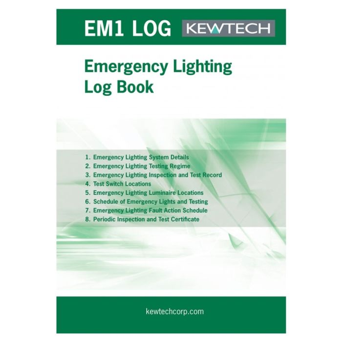 Kewtech Emergency Lighting Log - EM1LOG