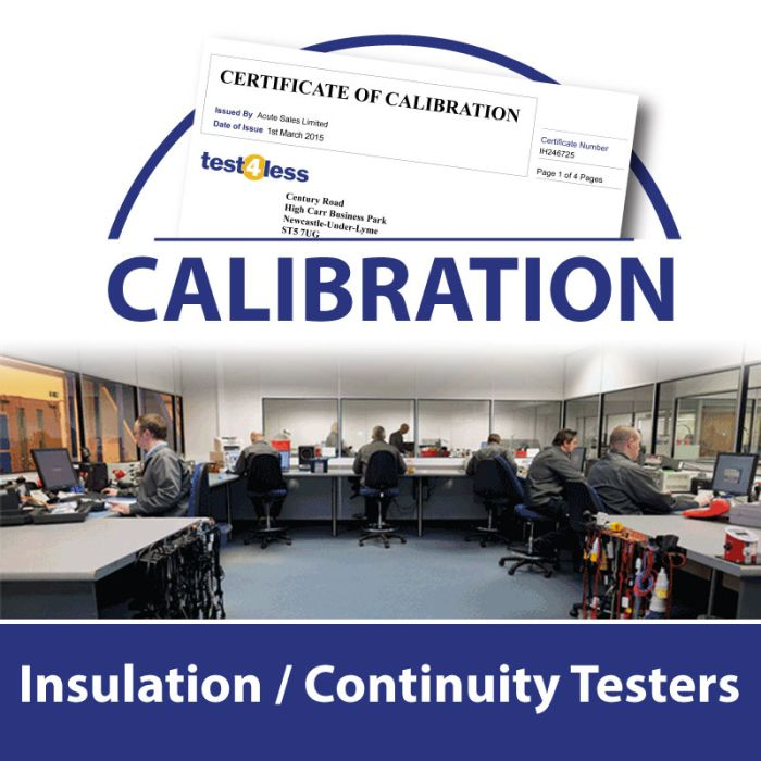 Insulation / Continuity Tester Calibration