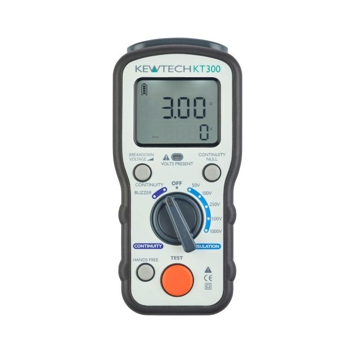 Kewtech KT300 Insulation and Continuity Tester