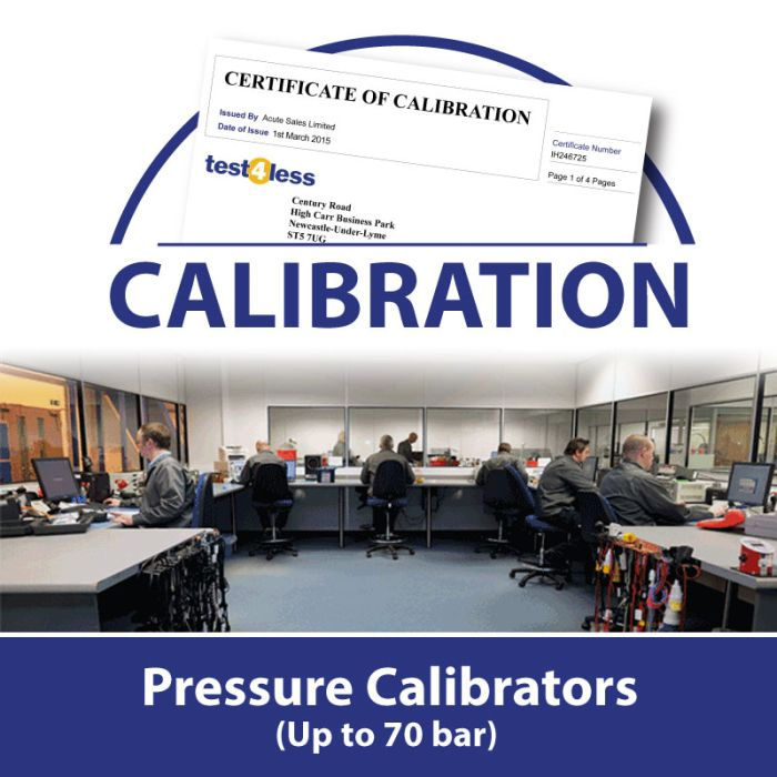 Pressure Calibrator Calibration (up to 70 bar)