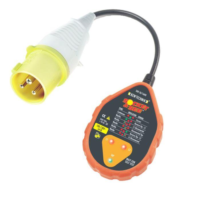 Socket & See SOK50/16HD 110V Industrial Socket Tester