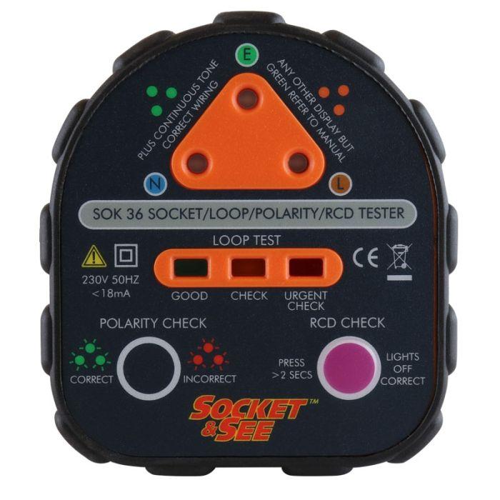 Socket & See SOK36 Professional Socket Tester