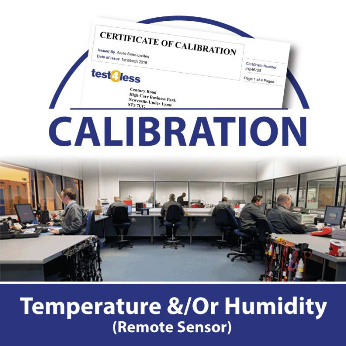 Temperature &/Or Humidity Calibration (Remote Sensor)