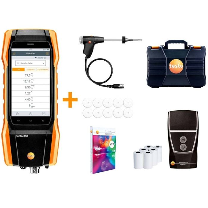 Testo 300 LL Longlife Standard Kit with Printer