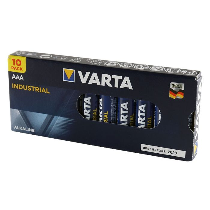 Varta Industrial Pro AAA Alkaline Batteries (10 pack)