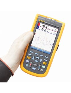 Fluke 124B UK Industrial ScopeMeter Hand Held Oscilloscope (40 MHz)
