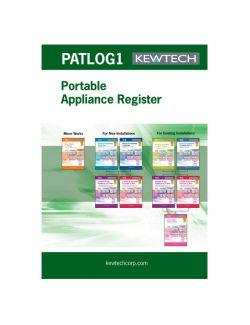 Kewtech PAT Test A4 log book (multiple site)