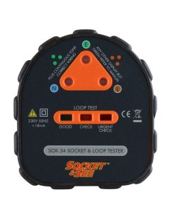 Socket & See SOK34 Easy Socket and Earth Loop Tester