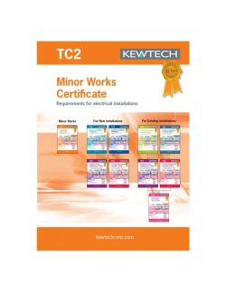 Kewtech Minor Works Certs 40pgs (TC2)