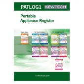 Kewtech PAT Test A4 log book (multiple site)
