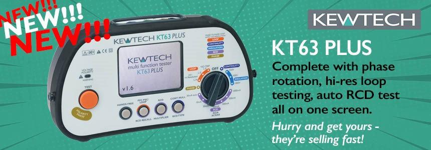 Kewtech KT63PLUS banner